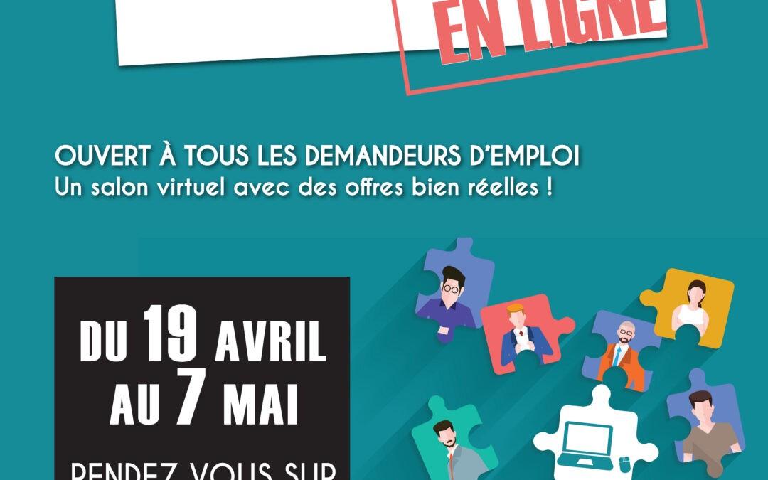 PARTICIPEZ AU « e-SALON DE L'EMPLOI » du 19 avril au 7 mai