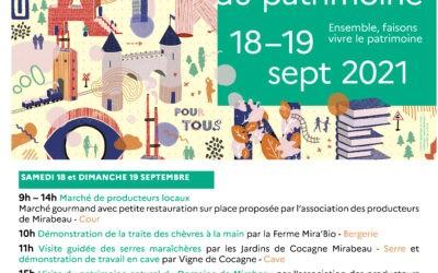 Journées Européennes du patrimoine, c'est ce week-end au Domaine de Mirabeau !