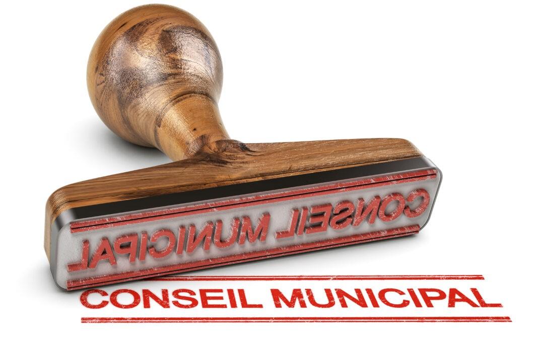 Prochain Conseil Municipal : le mercredi 20 octobre
