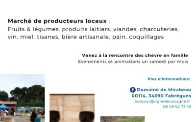 Un marché 100% local tous les samedis à Mirabeau